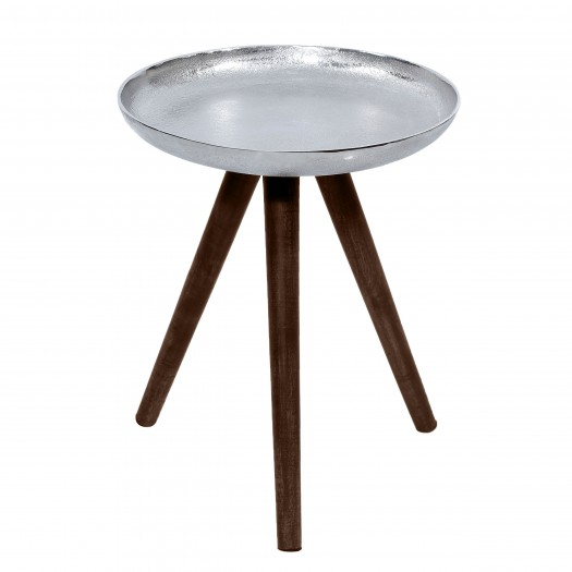 Table basse ronde Kemin chrome