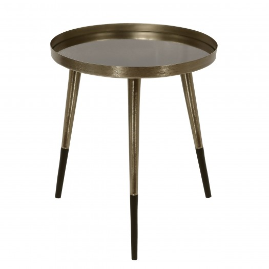 Table basse ronde Hovan laiton