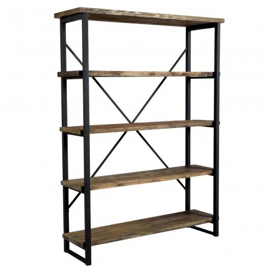 Etagère Latika 4 niveaux en bois recyclé et métal