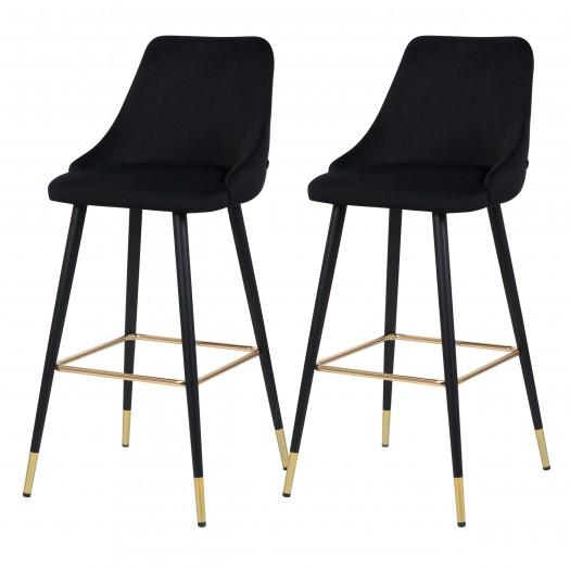 Chaise de bar Danuta noir
