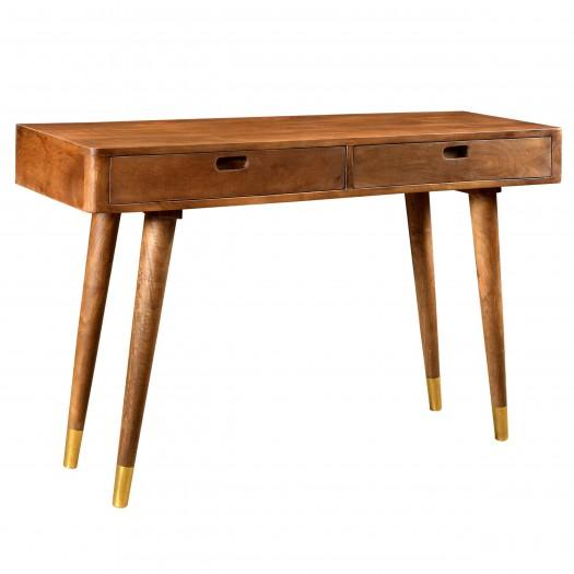 Console emelie en bois détails dorés 2 tiroirs