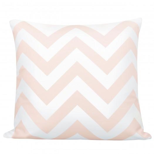 Coussin bicolore rose et blanc 45 x 45 cm déhoussable-