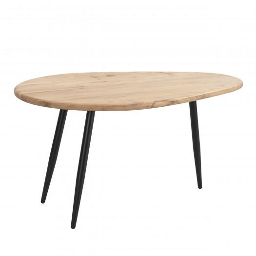 Table basse Bulma en bois d'acacia