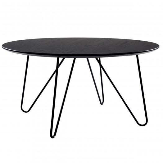 Table basse ronde noire Vela Ø80 cm