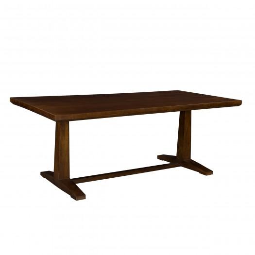 Table rectangulaire Teva en bois foncé