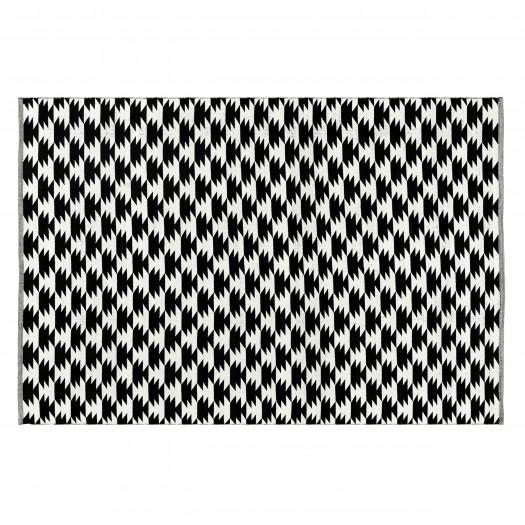 Tapis noir Nizli en coton 160x230 cm