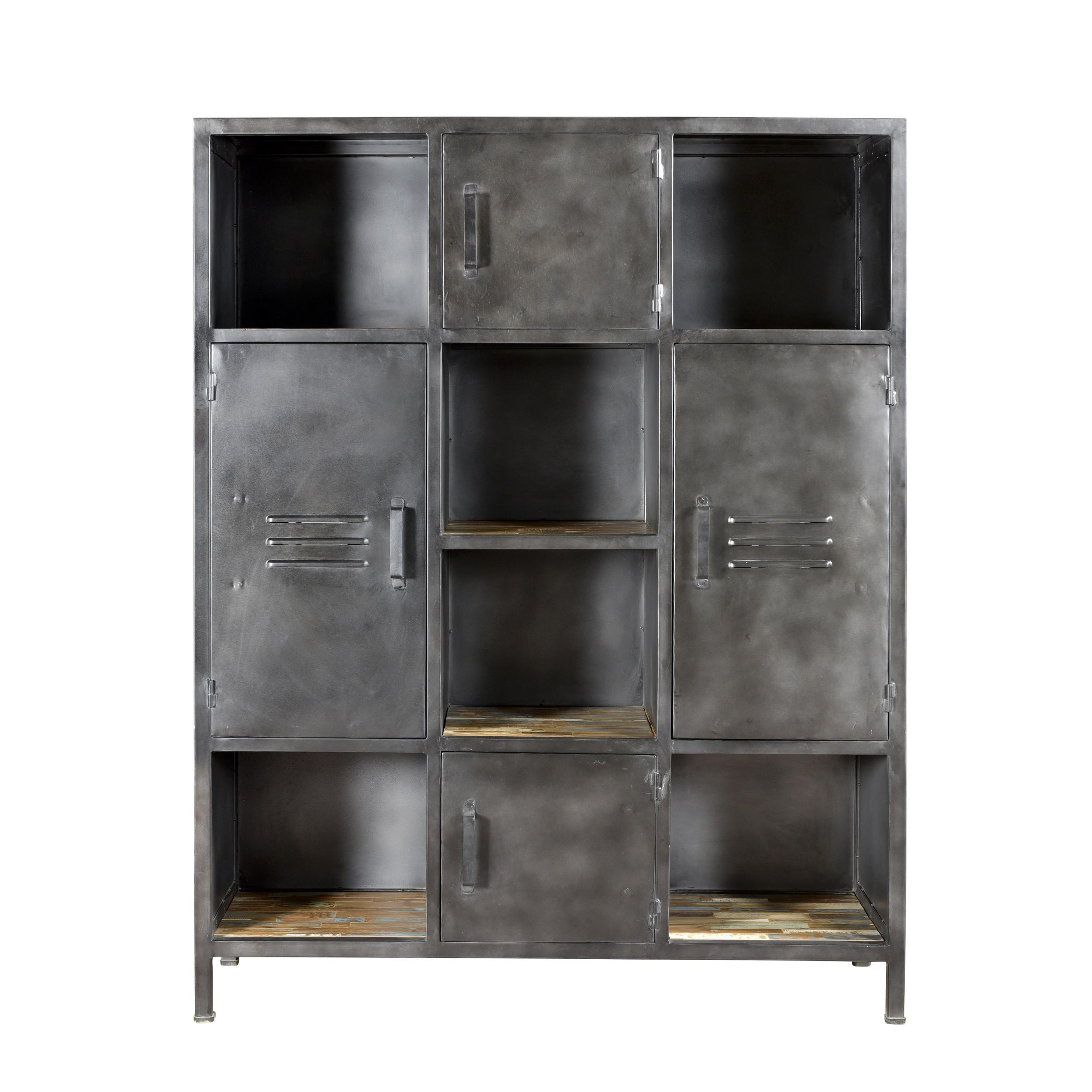 Meuble De Rangement En Bois Recycle Et Metal Design Lab Furniture