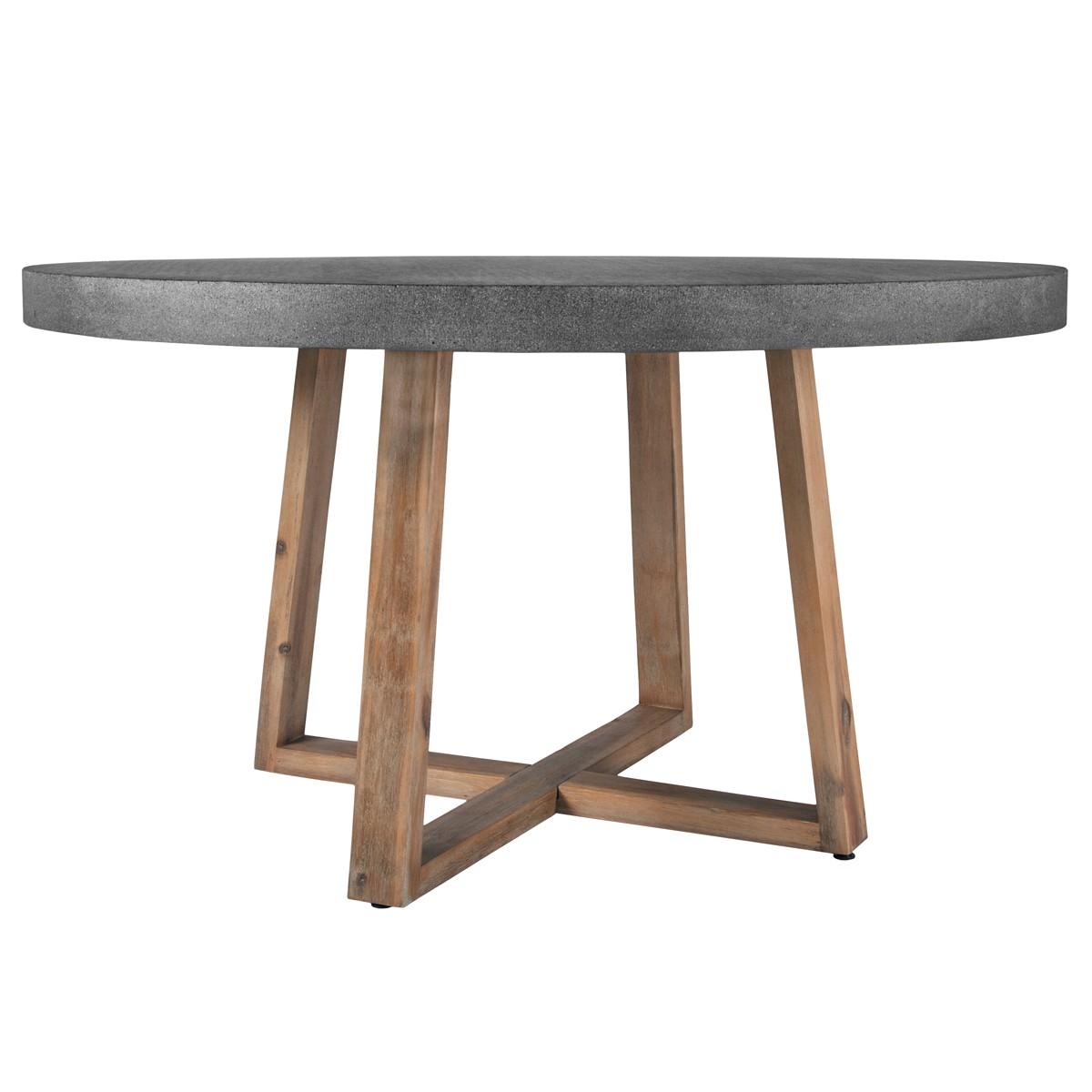 Table Ronde Résine Et Bois 140 Cm