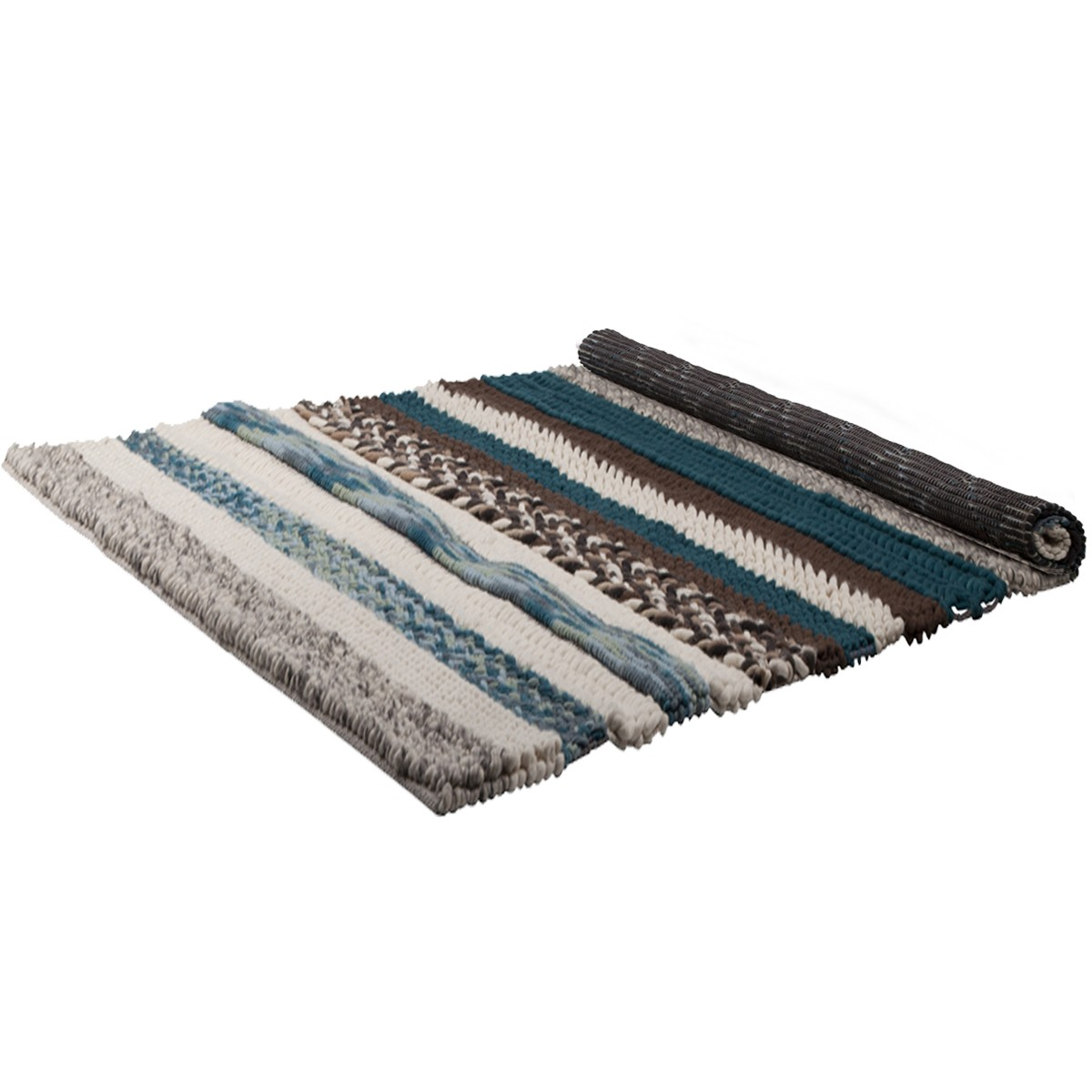 Tapis Andrea marron et bleu 200x300 cm - Design Lab Furniture