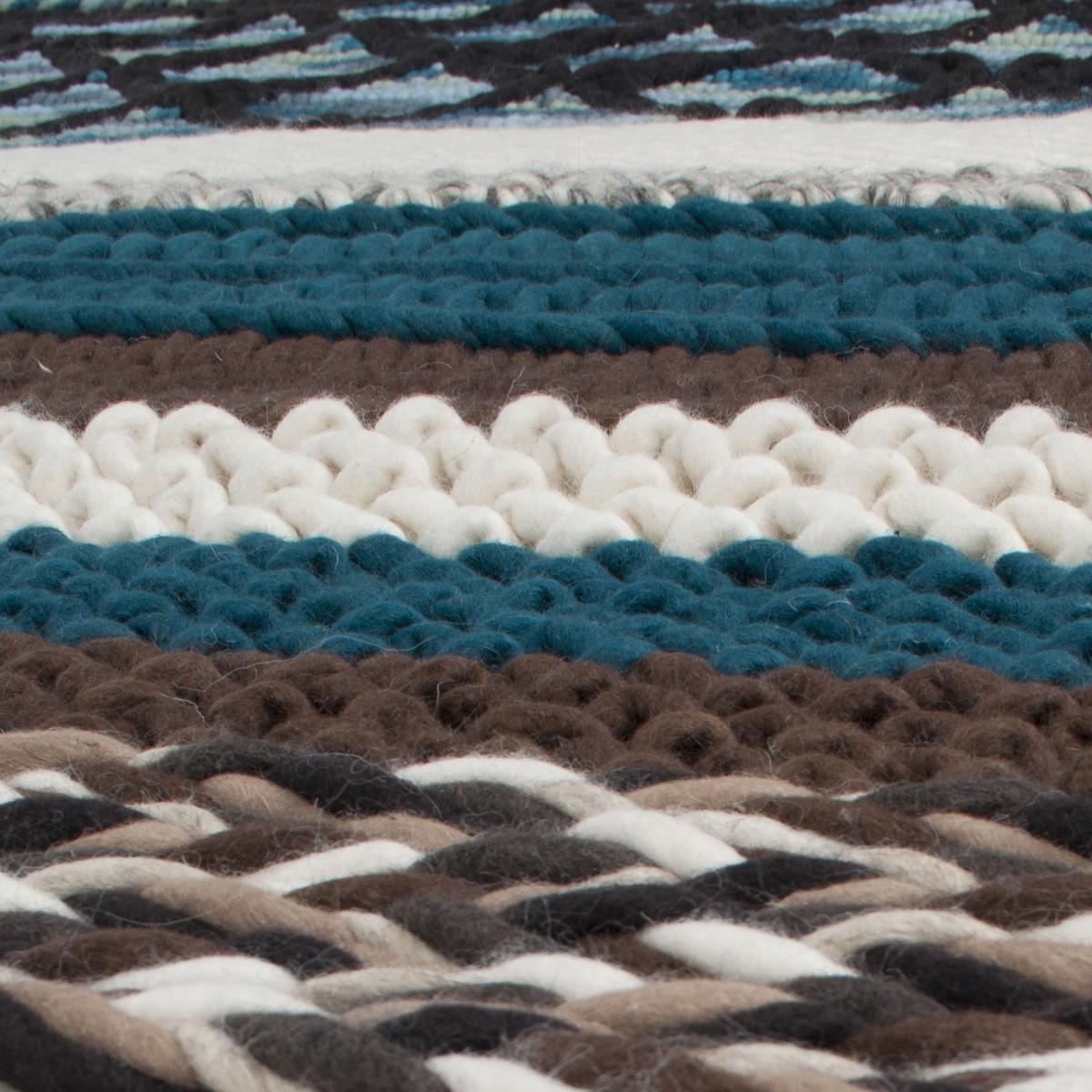 Tapis Andrea marron et bleu 200x300 cm