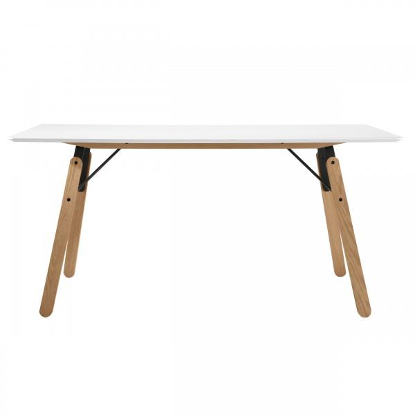 Table rectangulaire Snow blanc 160 cm