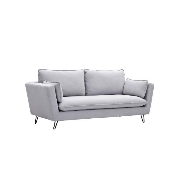 Canapé 3 places Kira gris clair