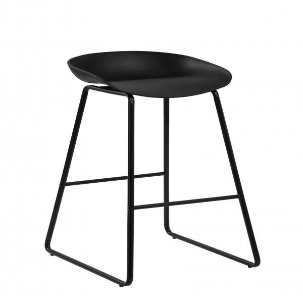 Chaise de bar Glava noire (lot de 2)