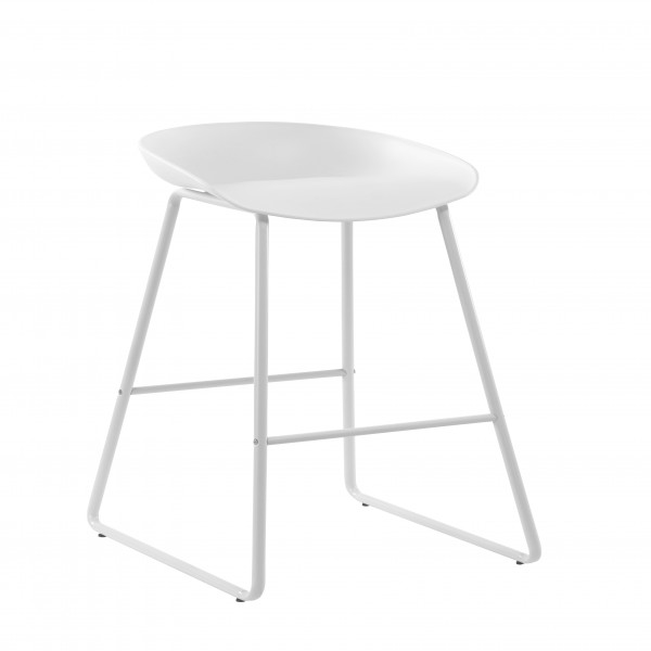 Chaise de bar Glava blanche (lot de 2)