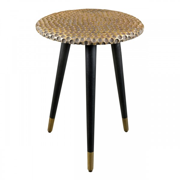 Table d'appoint ronde Exotic dorée