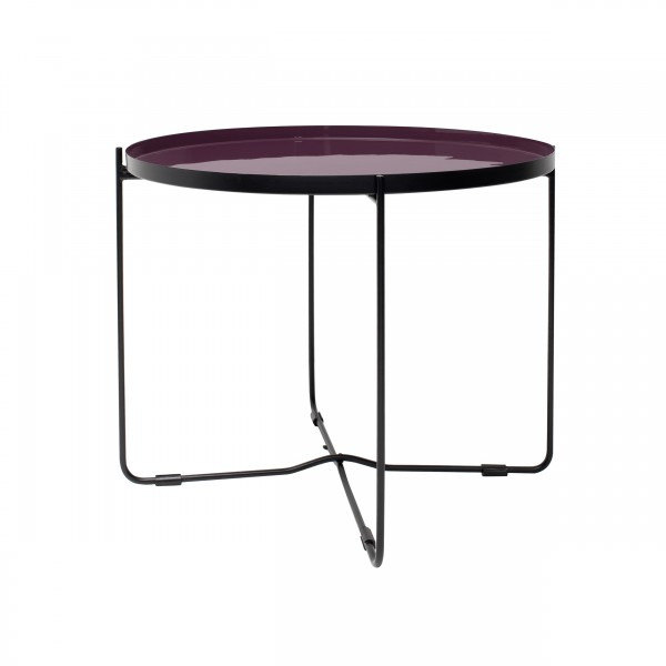 Table basse ronde Vahdat violette