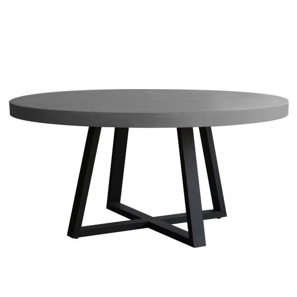 Table ronde résine et métal 140 cm