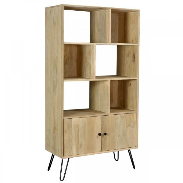 Bibliothèque Marady en bois deux portes 3 niveaux