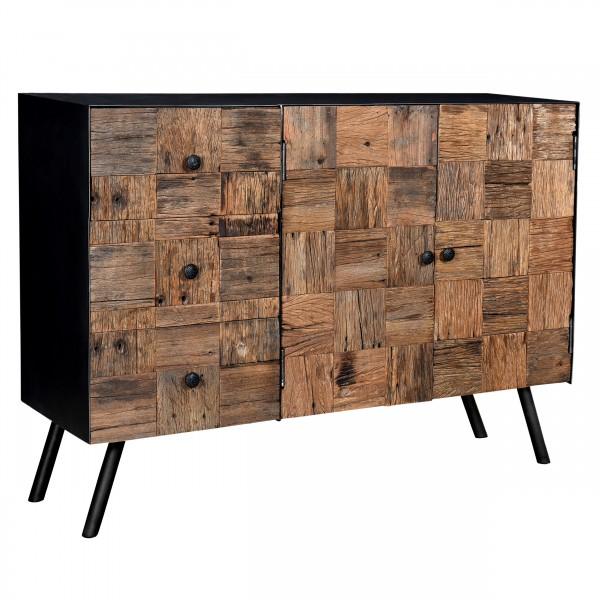 Buffet Humaila  en bois 2 portes 4 tiroirs