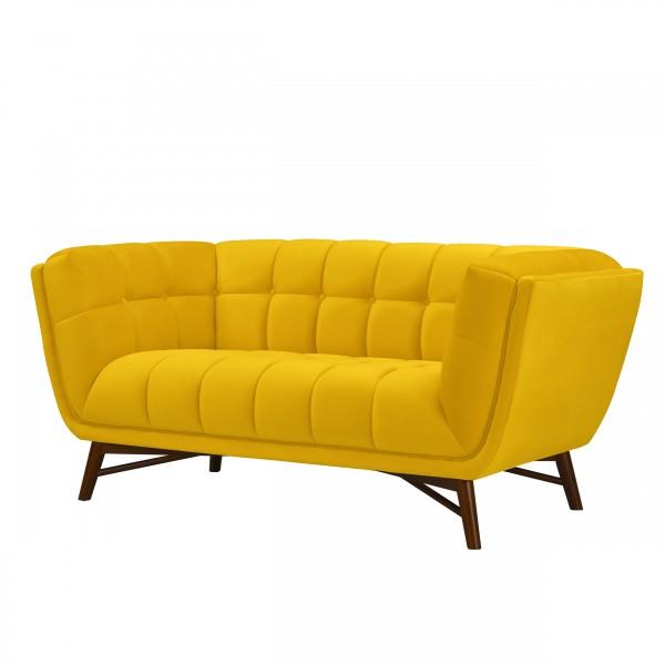 Canapé Kebon 2 places en velours jaune
