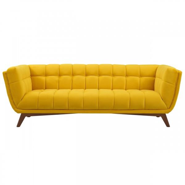 Canapé nina 3 places en velours jaune