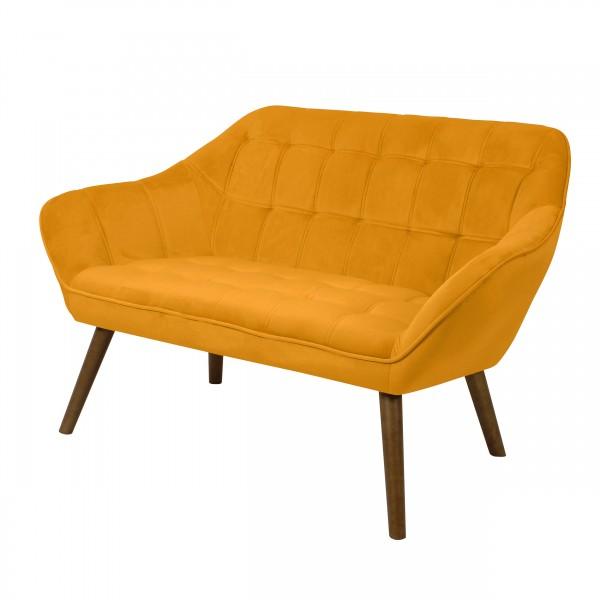 Canapé berenice 2 places en velours jaune