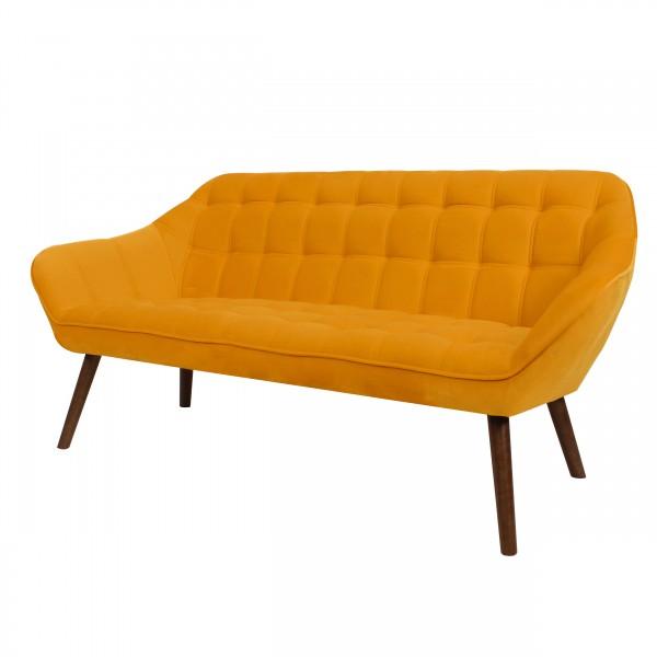 Canapé hilona 3 places en velours jaune