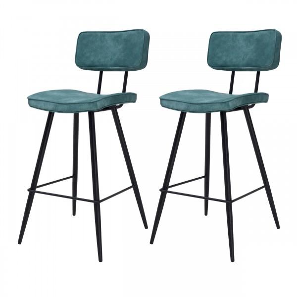 Chaise de bar Loft bleue (lot de 2)