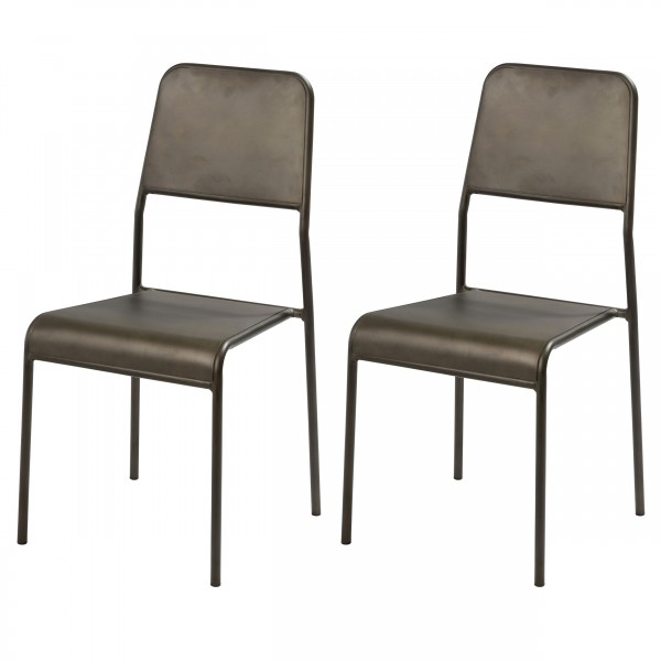 Chaise Tifenn en métal Floxy