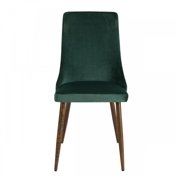 Chaise Oscar en velours vert (lot de 2)