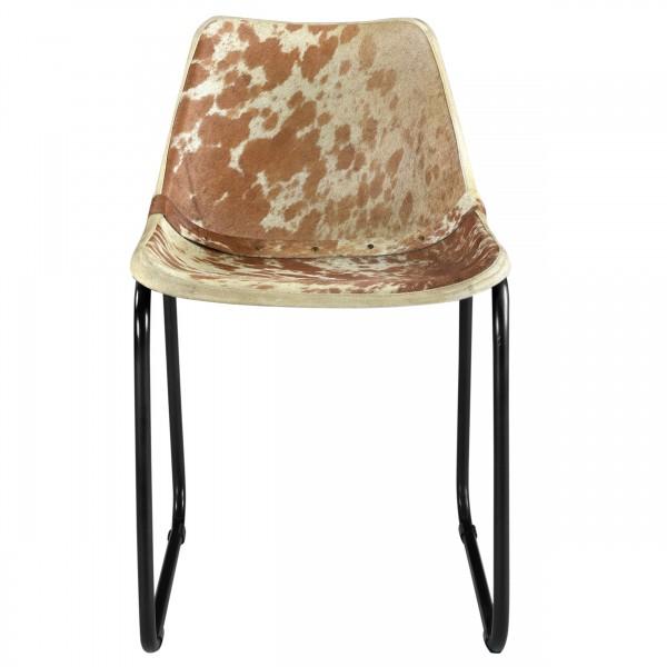Chaise en cuir de vache Nazli