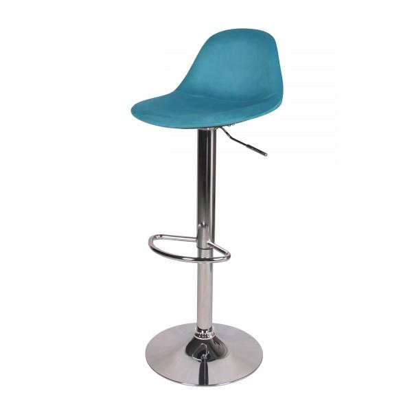 Chaise de bar pivotante Bohdan bleu