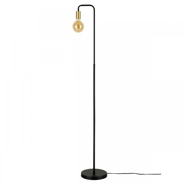 Lampadaire Sink contemporain en métal noir finition doré (ampoule incluse)