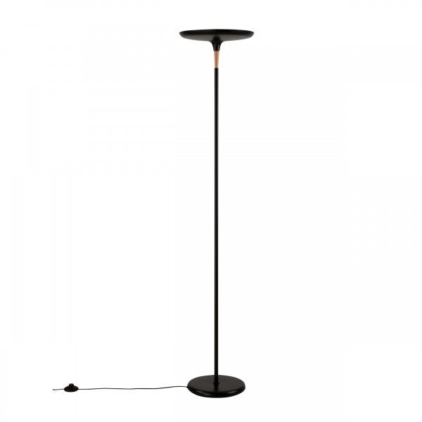 Lampadaire bryan en métal noir H176 cm