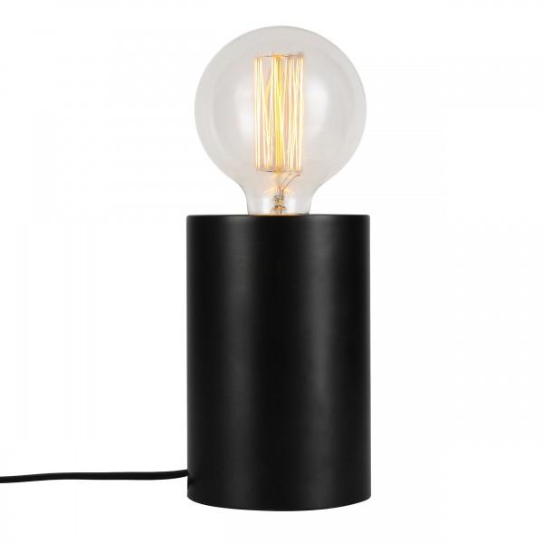 Lampe à poser amélie tactile en métal finition noire (ampoule incluse)