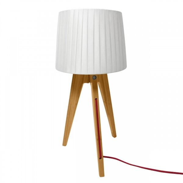 Lampe à poser abat-jour plissé blanc