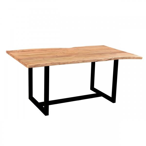 Table de repas Esha rectangulaire en bois pieds en métal