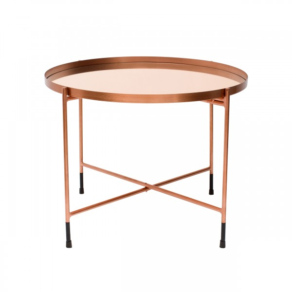 Table basse ronde Dargez cuivre