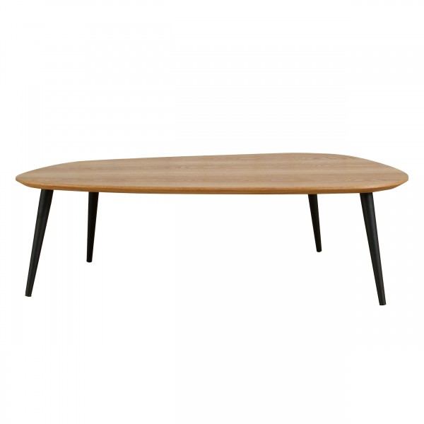 Table basse galet L bois clair
