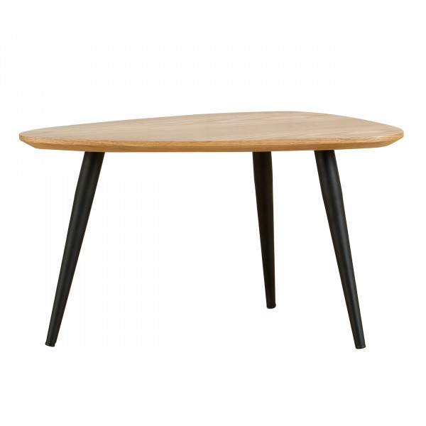 Table basse galet S bois clair