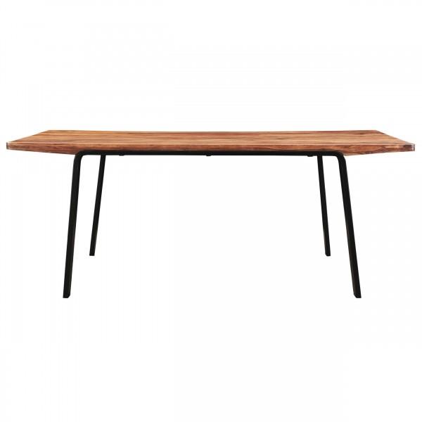 Table à manger rectangulaire en bois et pieds en métal 200 cm 6-8 personnes