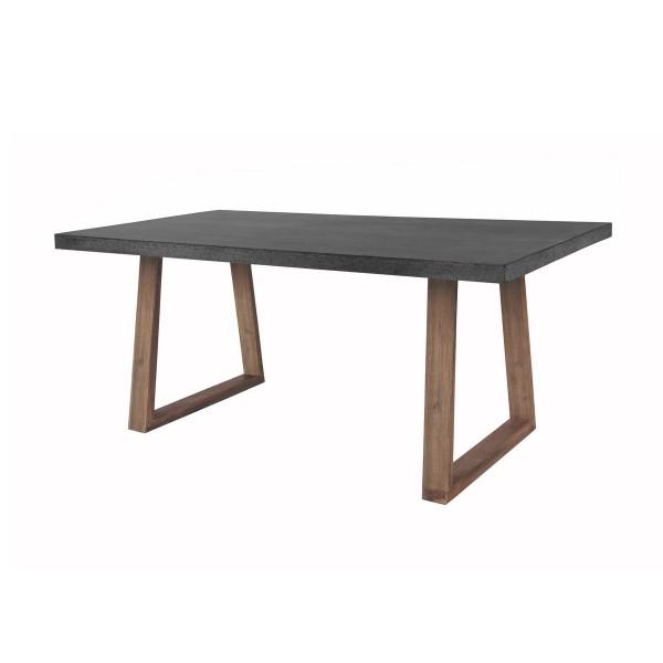 Table rectangulaire résine et bois 180 cm