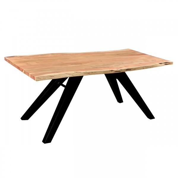 Table de repas Lalan  rectangulaire en bois pieds en métal