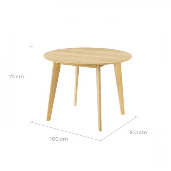 Table ronde Réno ∅100 cm en bois clair