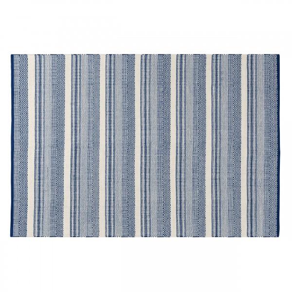 Tapis bleu Naour en coton 160x230 cm