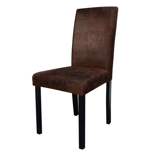 Chaise de salon marron vieilli (lot de 2)