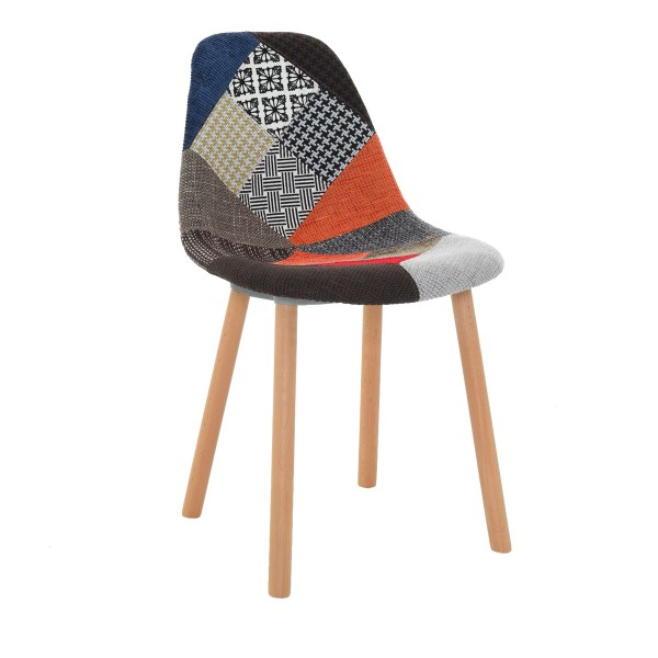 Chaise Nordik patchwork (lot de 2)
