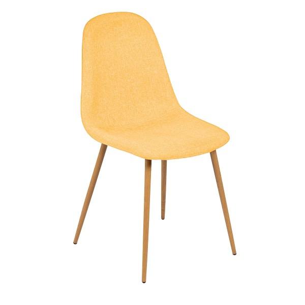 Chaise Olga jaune (lot de 2)