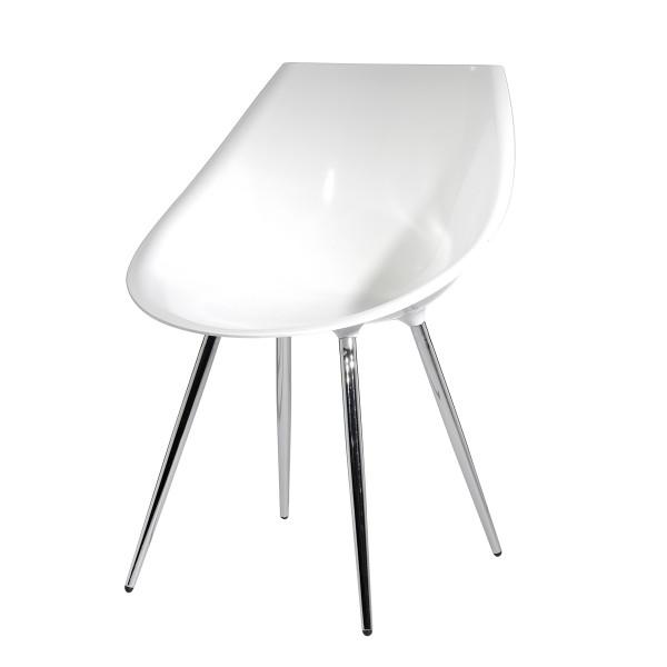 Chaise Rétro blanche (lot de 2)