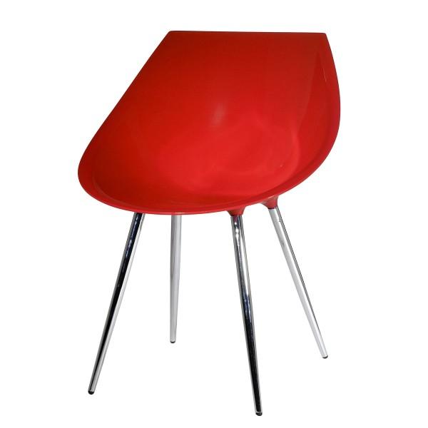 Chaise Rétro rouge (lot de 2)